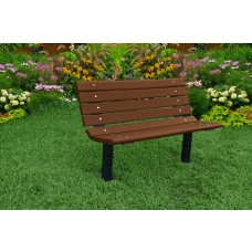 Contour Bench - Brown - 4 Foot