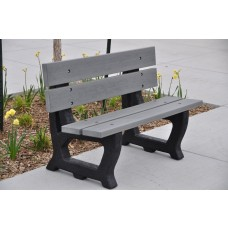 Petrie Bench - Gray - 4 Foot