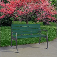 Plaza Bench - Green - 4 Foot