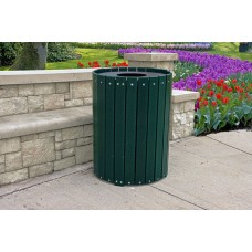 Standard Round Receptacle - Green - 55 Gallon