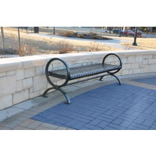 Wellington Backless Bench - Black - 6 Foot