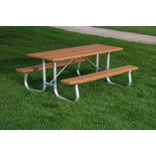 Galvanized Frame Picnic Table - Cedar - 6 Foot - ADA