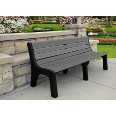 Newport Bench - Gray - 6 Foot