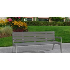 Plaza Bench - Gray - 6 Foot