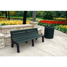 Newport Bench - Green - 6 Foot