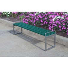 Plaza Backless Bench - Green - 6 Foot