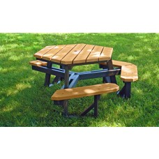 Hex Table Ada - Cedar - 6 Foot
