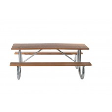 Galvanized Frame Picnic Table - Cedar - 8 Foot