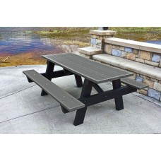 A Frame Picnic Table - Gray - 6 Foot