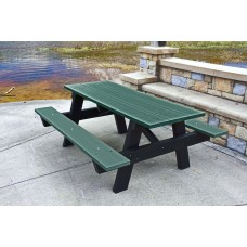 A Frame Picnic Table - Green - 6 Foot