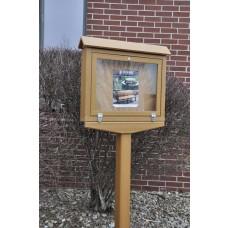 Small Hinged Message Center - Cedar