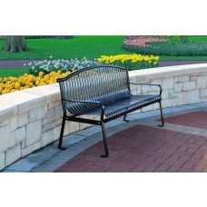 Rockford Bench - Black - 6 Foot