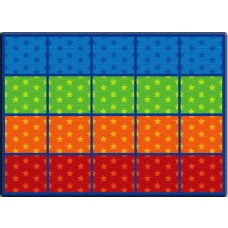 Cushy Stars Seating Rows- Seats 20 6'X8'4 Rectangle Carpet