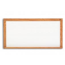 Pro-Rite 48x72 White porcelain markerboard, Red Oak Wood Trim