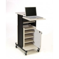 Premium Plus Presentation Cart with Storage Cabinet
