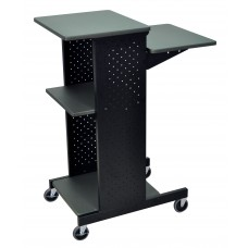 Luxor Gray 4 Shelf Mobile Presentation Station