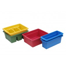 Expanded Storage Royal Reading/Writing Center with 2 Small, 1 Open, 2 Divided Tubs