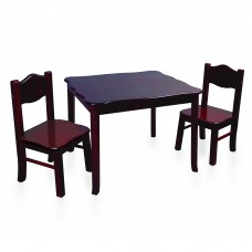 Classic Table and Chairs Set - Espresso
