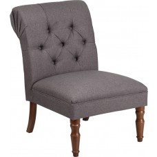 HERCULES Elm Park Series Gray Fabric Tufted Chair [QY-B82-GY-GG]