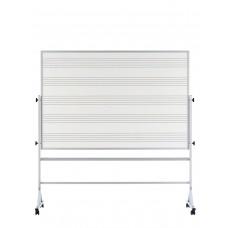 48x72 White porcelain markerboard both sides Reversible, Aluminum trim