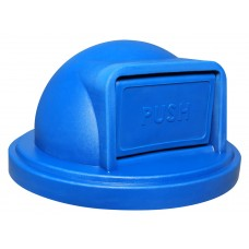 Replacement Dome Top W/Push Door - Recycle Blue