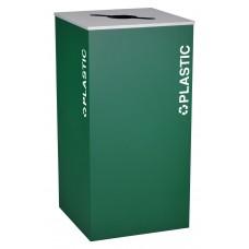 Square Plastic - Emerald Texture