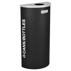 Half Round Cans/Bottles - Black Texture