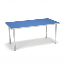OFM Adapt Series Rectangle Standard Table - 23-31″ Height Adjustable Desk, Blue (RECT-LL)