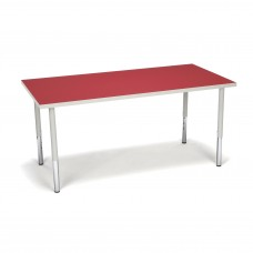 OFM Adapt Series Rectangle Standard Table - 23-31″ Height Adjustable Desk, Red (RECT-LL)