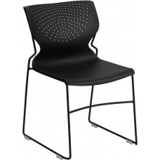 HERCULES Series 661 lb. Capacity Black Full Back Stack Chair with Black Frame [RUT-438-BK-GG]