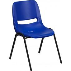 HERCULES Series 880 lb. Capacity Blue Ergonomic Shell Stack Chair [RUT-EO1-BL-GG]