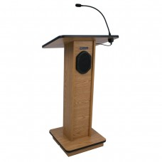 Elite Lectern - Wired Sound - Oak