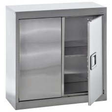 """Sandusky® 30"""" x 12"""" x 30"""" Wall Storage Cabinet With Paddle Lock, Stainless Steel"""