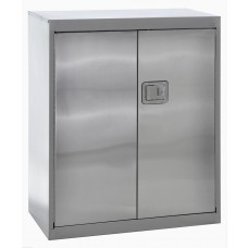 """Sandusky® 36"""" x 18"""" x 42"""" Counter Height Storage Cabinet With Paddle Lock, Stainless Steel"""