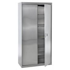 "Sandusky® 36"" x 18"" x 72"" Storage Cabinet With Paddle Lock, Stainless Steel"