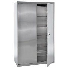 "Sandusky® 48"" x 24"" x 78"" Storage Cabinet With Paddle Lock, Stainless Steel"