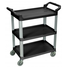 Luxor 3 Shelf Black Serving Cart