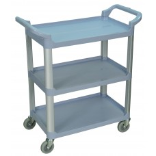 Luxor 3 Shelf Gray Serving Cart