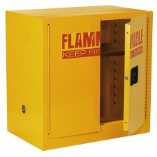 """Sandusky® 35""""H x 35""""W x 22""""D Steel Compact Flammable Safety Cabinet, Yellow"""