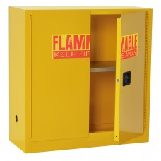 """Sandusky® 44""""H x 43""""W x 18""""D Steel Counter Height Flammable Safety Cabinet, Yellow"""