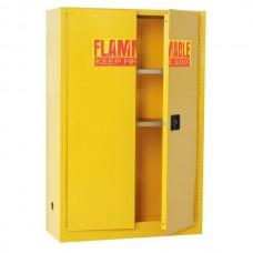 "Sandusky® 65""H x 43""W x 18""D Steel Flammable Safety Cabinet, Yellow"