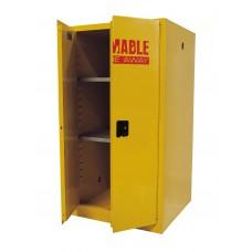 "Sandusky® 65""H x 34""W x 34""D Steel Flammable Safety Cabinet, Yellow"