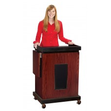 The Smart Cart Lectern (Sound, Mahogany)