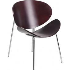 Mahogany Bentwood Leisure Side Reception Chair [SD-2268-7-MAH-GG]