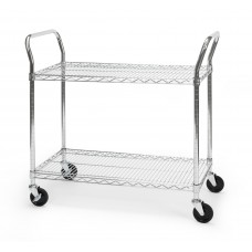 "OFM Core Collection X5 Series Heavy Duty 18"" X 36"" Mobile Utility Cart, in Silver (SHCART1836)"
