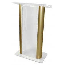 Clear Acrylic with 2 Satin Anodized Aluminum Posts - Clear