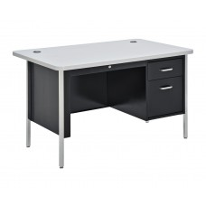 Sandusky SQ4830BGN Teacher's Desk, Black/Gray Nebula