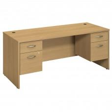 Bush Business Furniture Series C 72W x 30D Desk with 2 Pedestals
