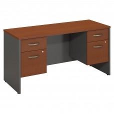 Bush Business Furniture Series C 60W x 24D Desk Credenza with 2 Pedestals