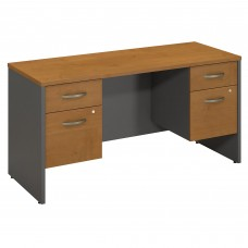 Bush Business Furniture Series C 60W x 24D Desk Credenza with 2 Pedestals